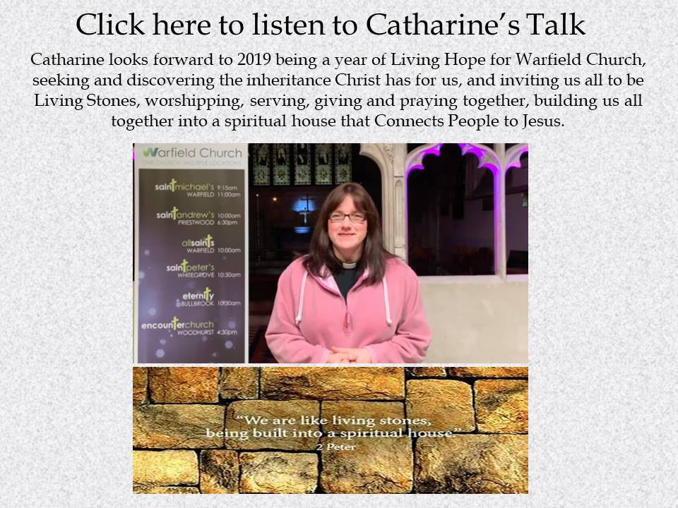 Listen to Catharines talk from the 6th January on Living Hope for Warfield Church